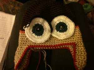 scrapped owl hat