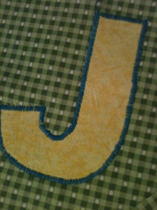 Lettering applique----not too shabby if I don't say so myself even though I hadn't done applique in years!