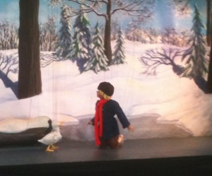 Peter and the wolf puppet show. Thie kids LOVED this!