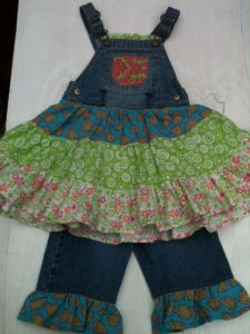 The overalls with matching ruffle pants!!